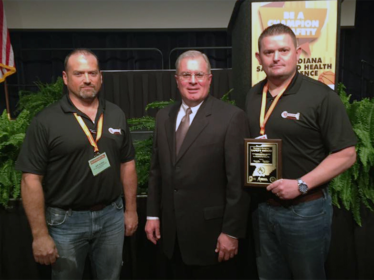 2016 Indiana Governor's Workplace Safety Award